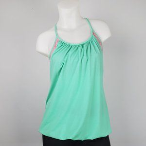 Lululemon Pink & Green Active Top Size 6